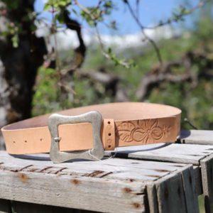 ceinture femme en cuir, (collet végétal) Hawaï REF : M1HCFCN